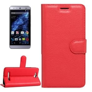 For BLU Energy X Litchi Texture Horizontal Flip Leather Case with Magnetic Buckle & Holder & Card Slots & Wallet(Red)