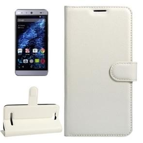 For BLU Energy X Litchi Texture Horizontal Flip Leather Case with Magnetic Buckle & Holder & Card Slots & Wallet(White)