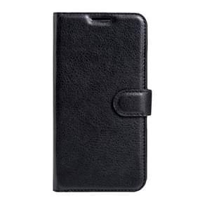 For BLU Energy X 2 Litchi Texture Horizontal Flip Leather Case with Magnetic Buckle & Holder & Card Slots & Wallet(Black)