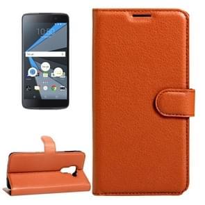 For BlackBerry DTEK60 Litchi Texture Horizontal Flip Leather Case with Magnetic Buckle & Holder & Card Slots & Wallet(Brown)
