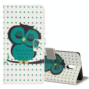 For Nokia N5 Owl Pattern Horizontal Flip Leather Case with Holder & Card Slots & Wallet