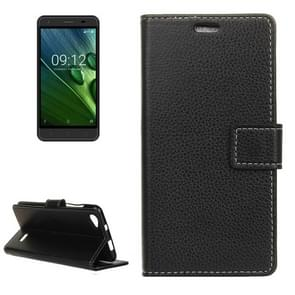 For Acer Liquid Z6E Litchi Texture Horizontal Flip Leather Case with Holder & Card Slots & Wallet & Photo Frame (Black)