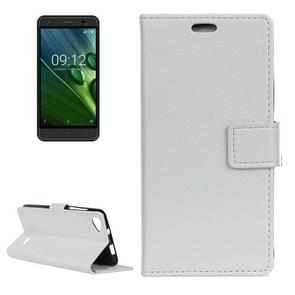 For Acer Liquid Z6E Litchi Texture Horizontal Flip Leather Case with Holder & Card Slots & Wallet & Photo Frame (White)