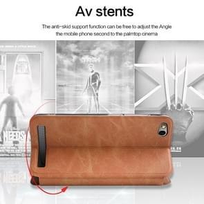 MOFI for  Xiaomi Redmi 5A Crazy Horse Texture Horizontal Flip Leather Case with Holder & Card Slot(White)