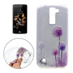For LG K8 Dandelion Pattern Transparent Soft TPU Protective Back Cover Case