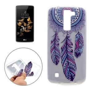 For LG K8 Windmill Pattern Transparent Soft TPU Protective Back Cover Case