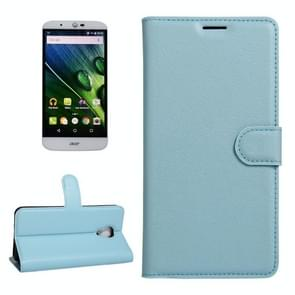 For Acer Liquid Z6 Plus Litchi Texture Horizontal Flip PU Leather Case with Holder & Card Slots & Wallet(Blue)