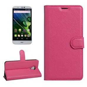 For Acer Liquid Z6 Plus Litchi Texture Horizontal Flip PU Leather Case with Holder & Card Slots & Wallet(Magenta)