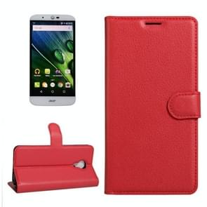For Acer Liquid Z6 Plus Litchi Texture Horizontal Flip PU Leather Case with Holder & Card Slots & Wallet(Red)