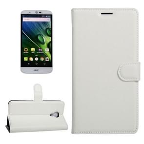 For Acer Liquid Z6 Plus Litchi Texture Horizontal Flip PU Leather Case with Holder & Card Slots & Wallet(White)