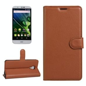 For Acer Liquid Z6 Plus Litchi Texture Horizontal Flip PU Leather Case with Holder & Card Slots & Wallet(Brown)