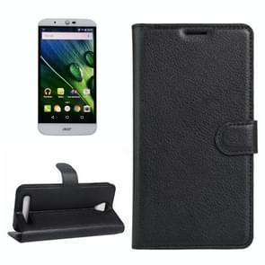 For Acer Liquid Z6 Litchi Texture Horizontal Flip PU Leather Case with Holder & Card Slots & Wallet(Black)