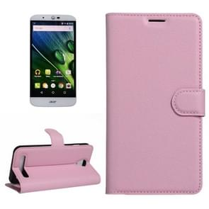 For Acer Liquid Z6 Litchi Texture Horizontal Flip PU Leather Case with Holder & Card Slots & Wallet(Pink)