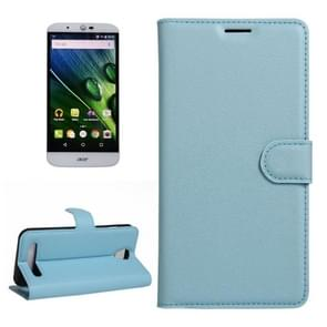 For Acer Liquid Z6 Litchi Texture Horizontal Flip PU Leather Case with Holder & Card Slots & Wallet(Blue)
