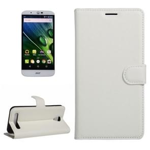 For Acer Liquid Z6 Litchi Texture Horizontal Flip PU Leather Case with Holder & Card Slots & Wallet(White)