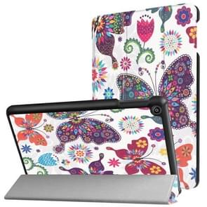 For Amazon Fire HD8 (2017) Butterfly Pattern Horizontal Deformation Flip Leather Case with Three-folding Holder & Sleep / Wake-up