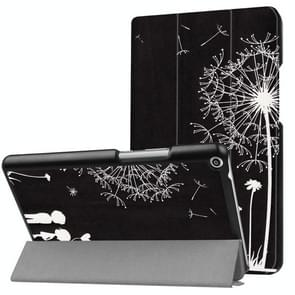 Huawei MediaPad T3 8.0 Dandelion Love Pattern Horizontal Deformation Flip Leather Case with Three-folding Holder
