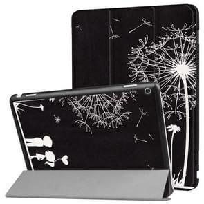 Huawei MediaPad M3 Lite 10 Dandelion Love Pattern Horizontal Deformation Flip Leather Case with Three-folding Holder & Sleep / Wake-up