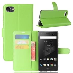 For BlackBerry Motion Litchi Texture Horizontal Flip Leather Case with Holder & Card Slots & Wallet(Green)