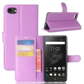 For BlackBerry Motion Litchi Texture Horizontal Flip Leather Case with Holder & Card Slots & Wallet(Purple)