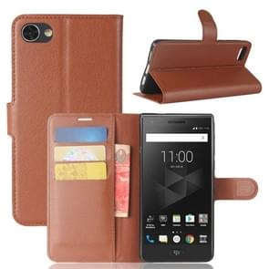 For BlackBerry Motion Litchi Texture Horizontal Flip Leather Case with Holder & Card Slots & Wallet(Brown)