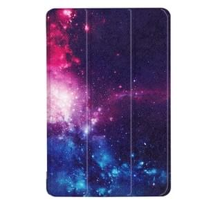 For ASUS ZenPad Z8s (ZT582KL) Cosmic Galaxy Pattern Horizontal Deformation Flip Leather Case with Three-folding Holder