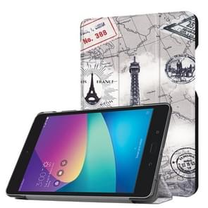 For ASUS ZenPad Z8s (ZT582KL) Tower Pattern Horizontal Deformation Flip Leather Case with Three-folding Holder