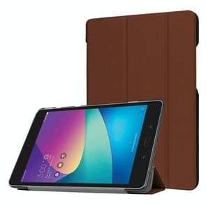 For ASUS ZenPad Z8s (ZT582KL) Custer Texture Horizontal Deformation Flip Leather Case with Three-folding Holder (Brown)