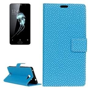 For Alcatel Flash Plus 2 Weaving Texture Horizontal Flip PU Leather Case with Magnetic Buckle & Holder & Card Slots & Wallet & Photo Frame(Blue)