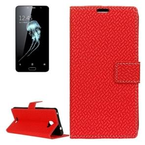 For Alcatel Flash Plus 2 Weaving Texture Horizontal Flip PU Leather Case with Magnetic Buckle & Holder & Card Slots & Wallet & Photo Frame(Red)