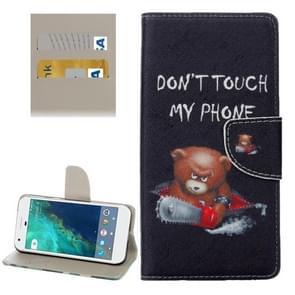 For Google Pixel Little Bear Pattern Horizontal Flip Leather Case with Holder & Card Slots & Wallet