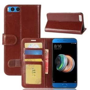 Xiaomi Mi Note 3 Crazy Horse Texture Horizontal Flip Leather Case with Holder & Card Slots & Wallet & Photo Frame(Brown)