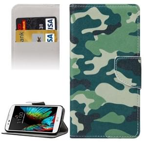 Camouflage Pattern Horizontal Flip Leather Case with Holder & Card Slots & Wallet for LG K10