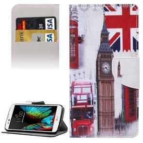London Big Ben Pattern Horizontal Flip Leather Case with Holder & Card Slots & Wallet for LG K10