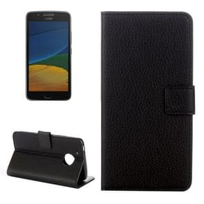For Motorola Moto G (5th Gen.) Litchi Texture Horizontal Flip Leather Case with Holder & Card Slots & Wallet (Black)