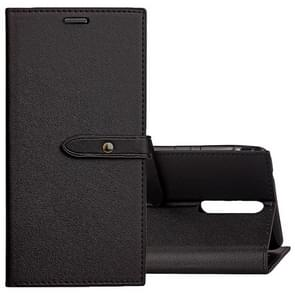 For Nokia 8 Business Style Leather Case with Holder & Card Slots & Wallet (Black)