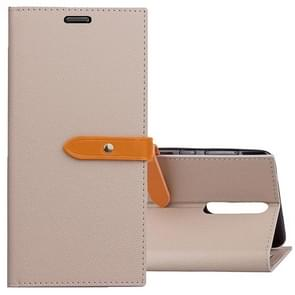For Nokia 8 Business Style Leather Case with Holder & Card Slots & Wallet (Grey)