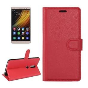 For Lenovo Phab 2 Plus Litchi Texture Horizontal Flip Leather Case with Magnetic Buckle & Holder & Card Slots & Wallet(Red)