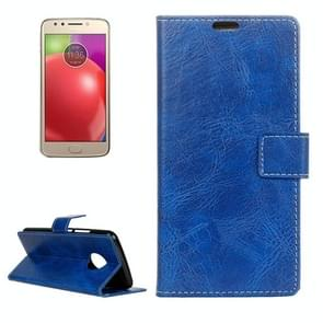 For Motorola Moto E4 (US Version ) Retro Crazy Horse Texture Horizontal Flip Leather Case with Holder & Card Slots & Wallet & Photo Frame (Blue)