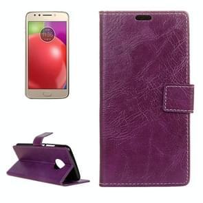 For Motorola Moto E4 (US Version ) Retro Crazy Horse Texture Horizontal Flip Leather Case with Holder & Card Slots & Wallet & Photo Frame (Purple)