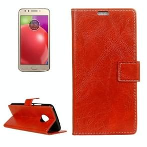 For Motorola Moto E4 (US Version ) Retro Crazy Horse Texture Horizontal Flip Leather Case with Holder & Card Slots & Wallet & Photo Frame (Red)
