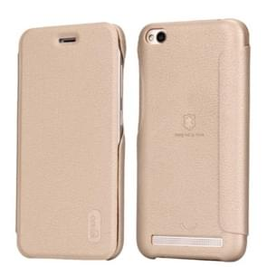 Lenuo Xiaomi Redmi 5A PU+PC Litchi Texture Horizontal Flip Leather Case Cover with Card Slot (Gold)