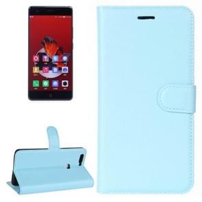 ZTE Nubia Z17 Litchi Texture Horizontal Flip Leather Case with Holder & Card Slots & Wallet (Blue)