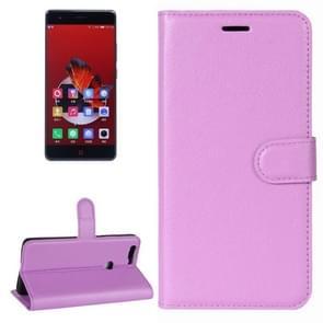 ZTE Nubia Z17 Litchi Texture Horizontal Flip Leather Case with Holder & Card Slots & Wallet (Purple)