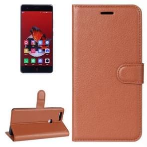 ZTE Nubia Z17 Litchi Texture Horizontal Flip Leather Case with Holder & Card Slots & Wallet (Brown)