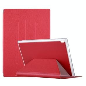 For Lenovo TAB4 TB-X304F 10.1 inch Silk Texture Horizontal Flip Leather Case with Holder (Red)