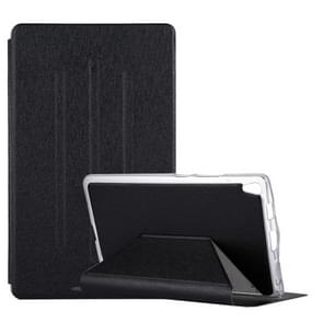For Lenovo Tab3 8 Plus / TB-8703 Silk Texture Horizontal Flip Leather Case with Holder (Black)
