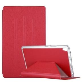 For Lenovo Tab3 8 Plus / TB-8703 Silk Texture Horizontal Flip Leather Case with Holder (Red)