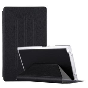 For Lenovo TAB4 TB-8504F 8 inch Silk Texture Horizontal Flip Leather Case with Holder (Black)