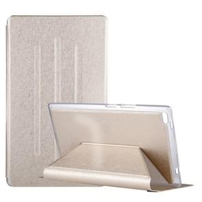 For Lenovo TAB4 TB-8504F 8 inch Silk Texture Horizontal Flip Leather Case with Holder (Gold)